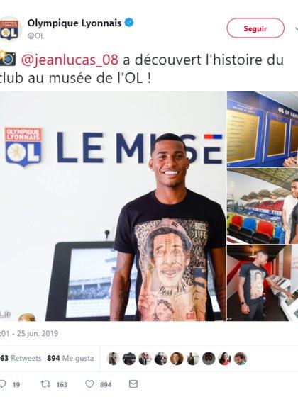 Así anunció el Lyon la llegada de su fichaje (Foto: Twitter @OL)