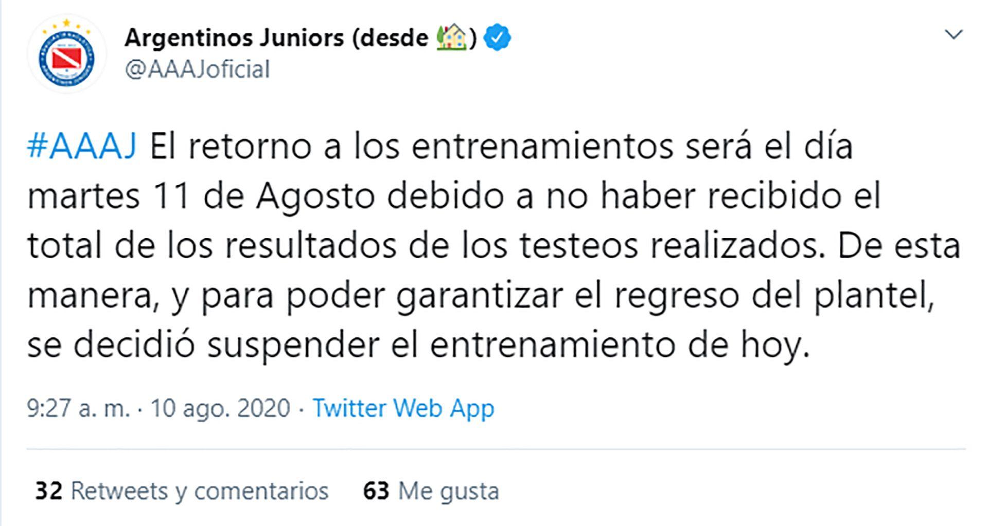 Vuelta Entrenamientos fútbol argentino