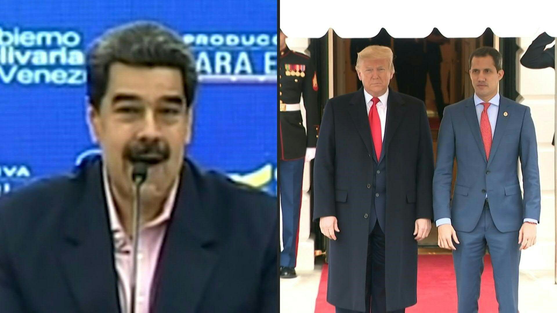 """El presidente venezolano, Nicolás Maduro, acusó el miércoles a Donald Trump de conducir a Estados Unidos a un conflicto de """"alto nivel contra Venezuela"""", luego de que el mandatario estadounidense prometiera """"aplastar"""" a su gobierno e invitara al opositor Juan Guaidó a la Casa Blanca."""