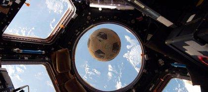 Desde el 19 de octubre de2016, la pelota pasó 173 días en el espacio.(ShaneKimbrough/NASA)