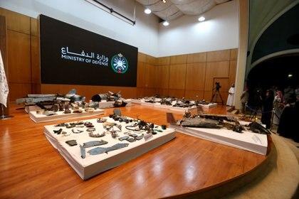 Los restos fueron presentados en conferencia de prensa (Reuters)
