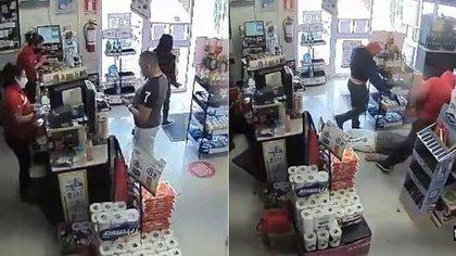 Un hombre fue atacado por sicarios en  una tienda de conveniencia (Foto: Captura de pantalla)