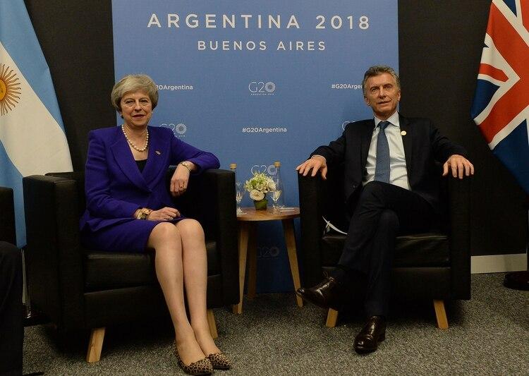 TheresaMay y Mauricio Macri (Presidencia)