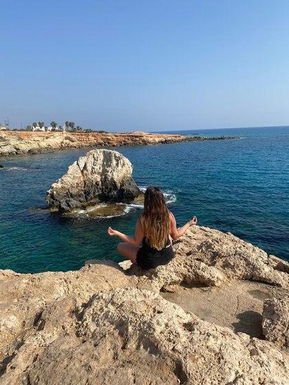 Una postal de sus vacaciones en Chipre