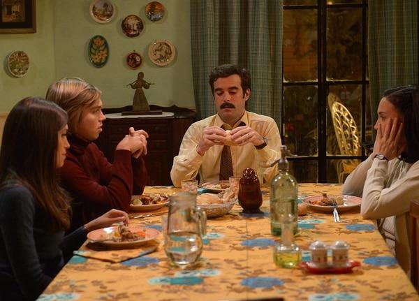 """Candela Vetrano, Franco Masini, Nicolás Cabré y Malena Solda en """"Cuéntame cómo pasó"""""""