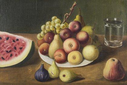"""Josefa Díaz y Clucellas, """"Frutas"""", óleo sobre tela, 33 x 47 cm. Colección Museo Provincial de Bellas Artes """"Rosa Galisteo de Rodríguez"""", Santa Fe"""