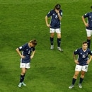Soccer Football - Women's World Cup - Group D - Scotland v Argentina - Parc des Princes, Paris, France - June 19, 2019 Argentina players look dejected after the match REUTERS/Gonzalo Fuentes