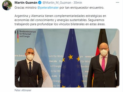 El tuit de Guzmán al cabo del encuentro