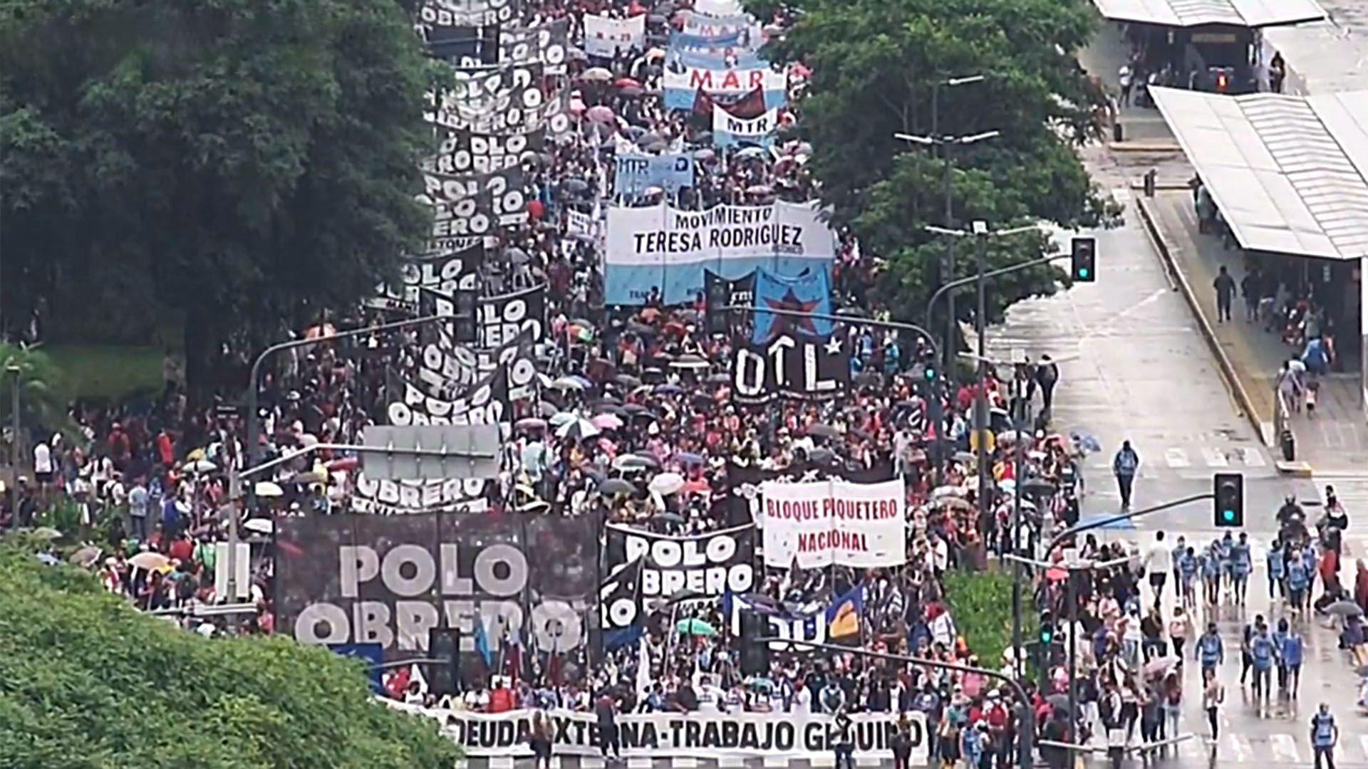 marcha organizaciones sociales 9 de julio captura