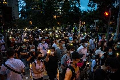 Imagen de manifestaciones en Hong Kong (Aidan Marzo/SOPA Images via ZUMA / DPA)