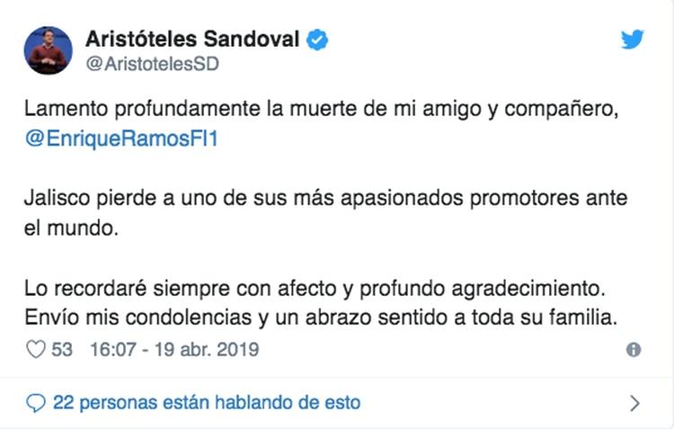 (Foto: Twitter Aristóteles Sandoval)
