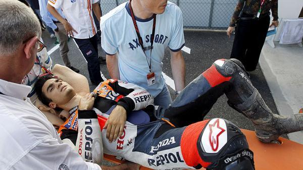 Resultado de imagen para dani pedrosa fractura japon 2016