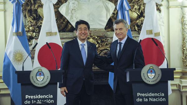 Resultado de imagen de Macri y Abe