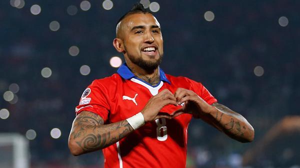 Arturo Vidal, campeón con Chile de la Copa América Centenario(AP)