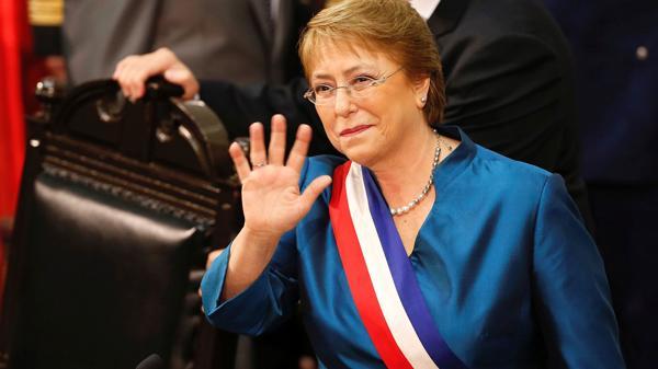 La presidente de Chile, Michelle Bachelet, ocupa el puesto 18 (Reuters)