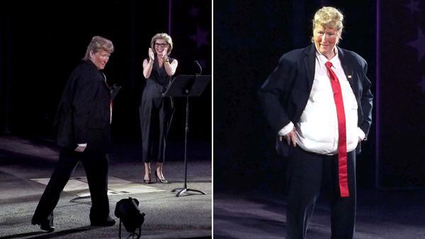 Meryl Streep se divirtió en una gala solidaria haciendo una caricatura de Donald Trump