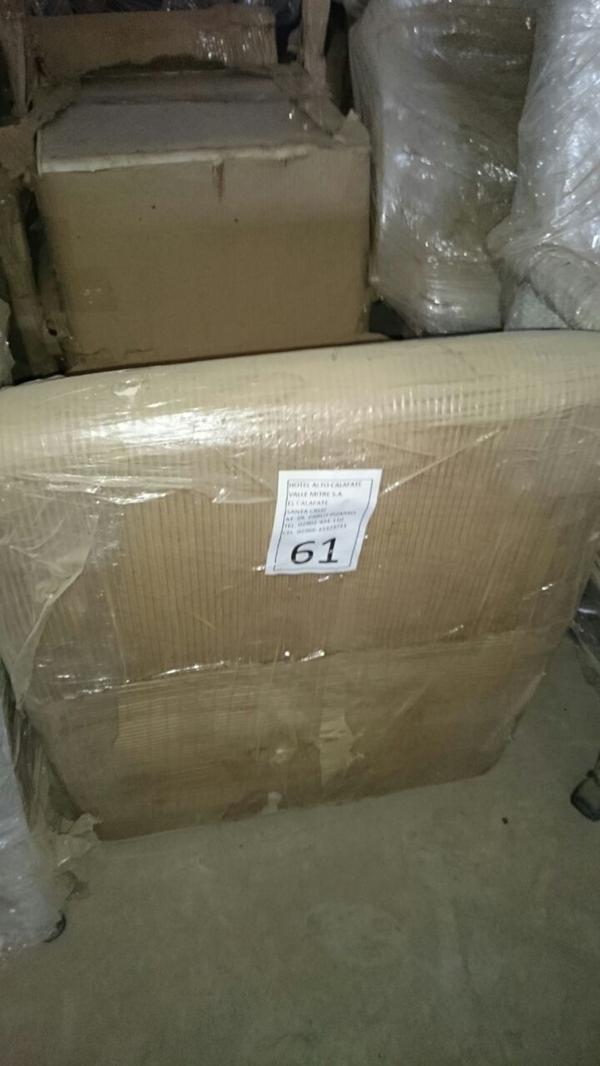 Los muebles fueron hallados embalados, numerados y etiquetados