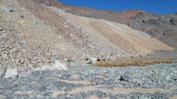 Vista de la escombrera hacia el noroeste, del lado argentino.