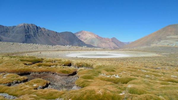 La laguna LCH1, en el sector chileno de la escombrera, está seca.