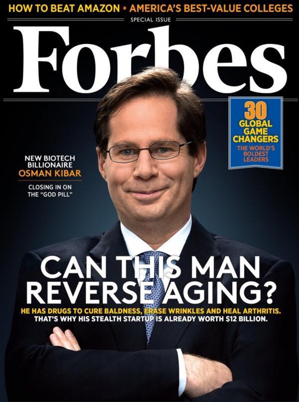 Osman Kibar, en la portada de la revista Forbes. (Forbes)