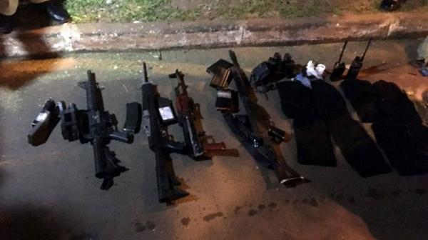 Armas de los narcos confiscadas por las autoridades (Gentileza ABC.com.py)