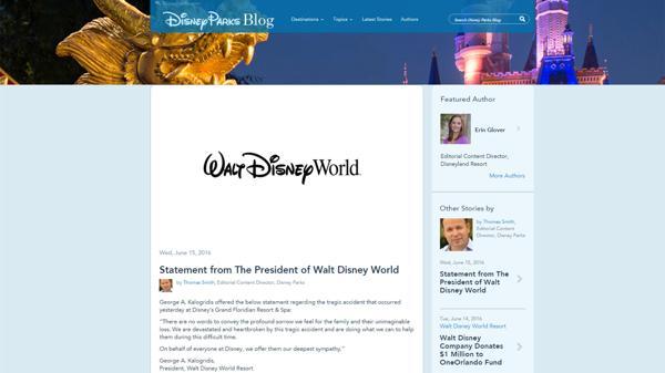 El comunicado de Disney: frio y formal, no hace mención a las evidentes fallas de seguridad del parque
