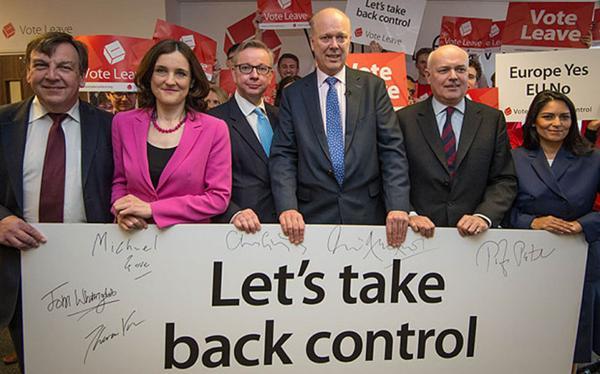 """""""Retomemos el control"""" piden algunos políticos partidarios del Brexit"""