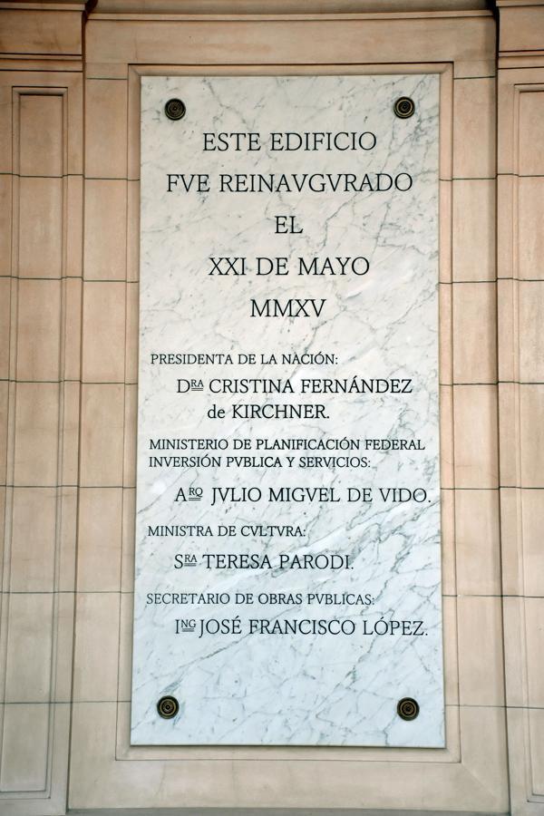 López y De Vido, en la placa fundacional del CCK (Nicolás Stulberg)