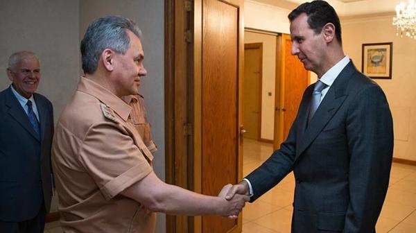 El ministro de Defensa ruso visitó al dictador sirio Bashar al Assad a mediados de junio (Interfax)