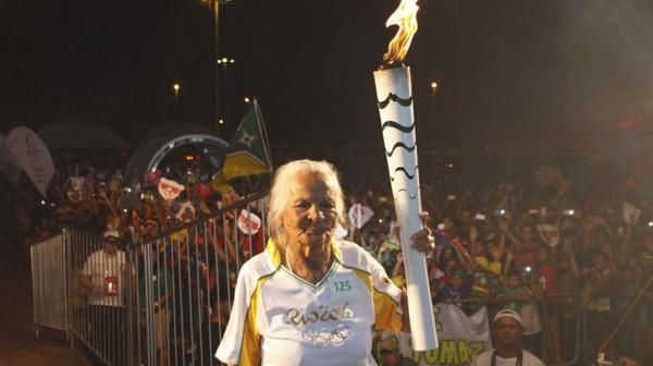 La anciana de 106 años que portó la antorcha olímpica de Río 2016