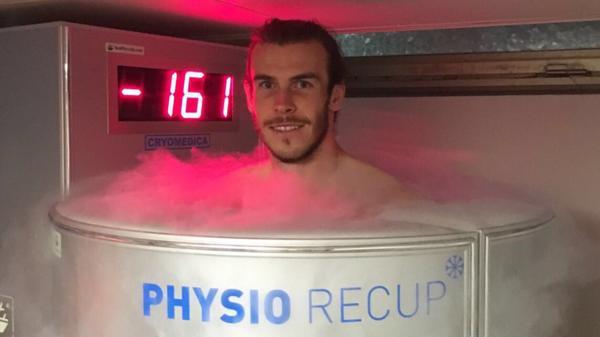 Gareth Bale publicó en Twitter su sesión de recuperación (@garethbale11)