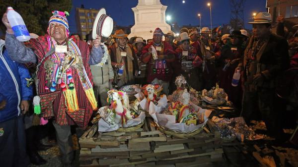 Hoy se celebró la llegada del año 5524 en Bolivia (EFE)