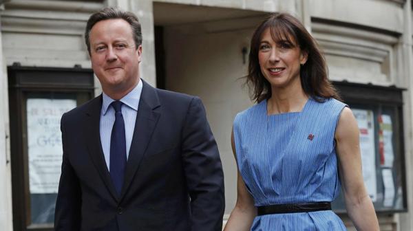 David Cameron, después de votar en el referéndum (AP)