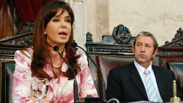 Cristina Kirchner y Julio Cobos (NA)
