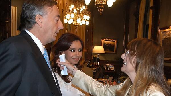 Néstor, Alicia y Cristina Kirchner, durante la década pasada.