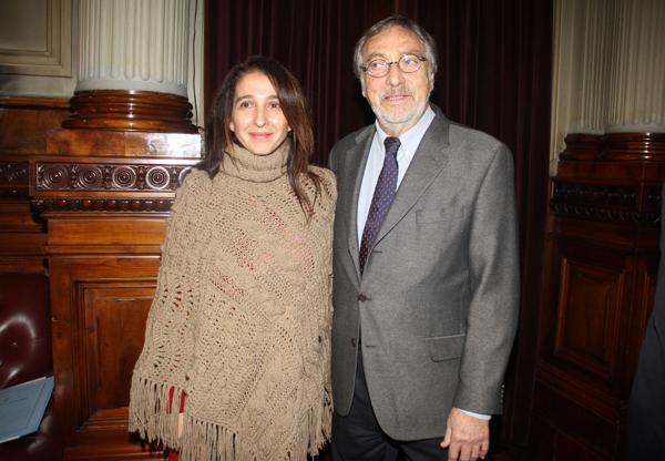 Luis Brandoni y su mujer, Mónica López (Verónica Guerman / Teleshow)