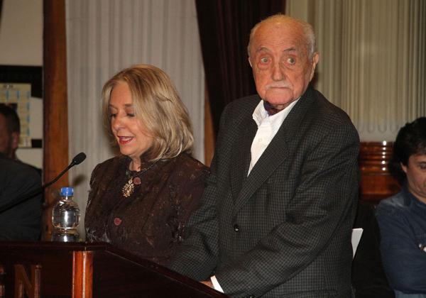 Recibió el homenaje en el Salón Illia del Senado de la Nación (Verónica Guerman / Teleshow)