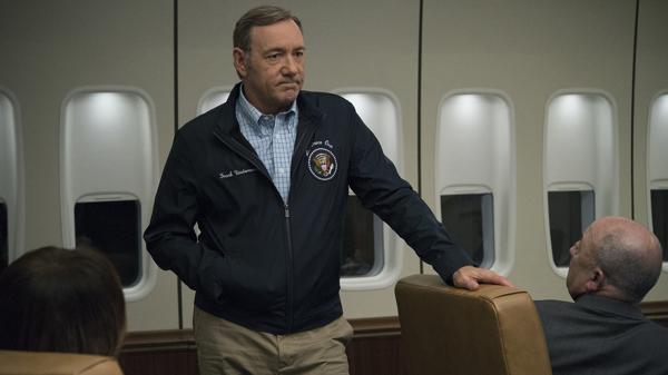 Kevin Spacey es Frank Underwood, el personaje principal de una de las series políticas más populares