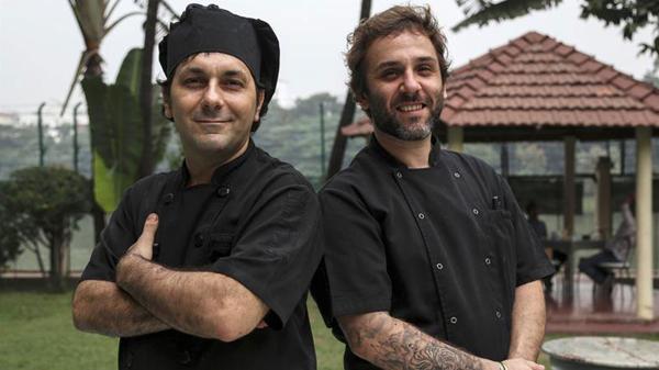 Diego Rossini y Gastón Palacios, los chefs argentinos