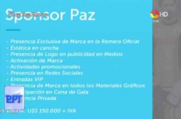 """La tarjeta del """"Papa-tour"""" mostrada por Lanata"""