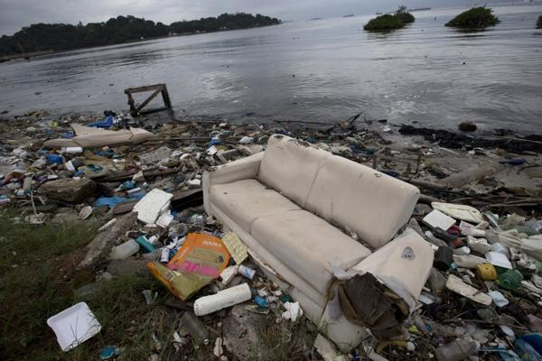Contaminación en la Bahía de Guanabara (AP)