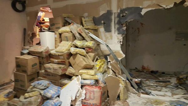 Así quedaron las paredes de una de las oficinas de la redacción del diario