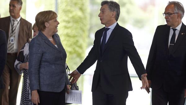 Fue la primera reunión de Mauricio Macri con Angela Merkel desde que es Presidente (Reuters)