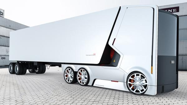 Uno de los bocetos de Audi: líneas planas y aristas redondeadas