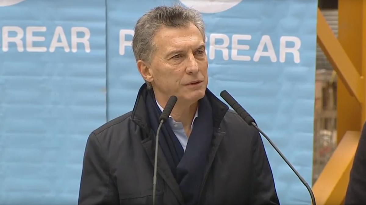 Mauricio Macri durante el relanzamiento del Plan Procrear