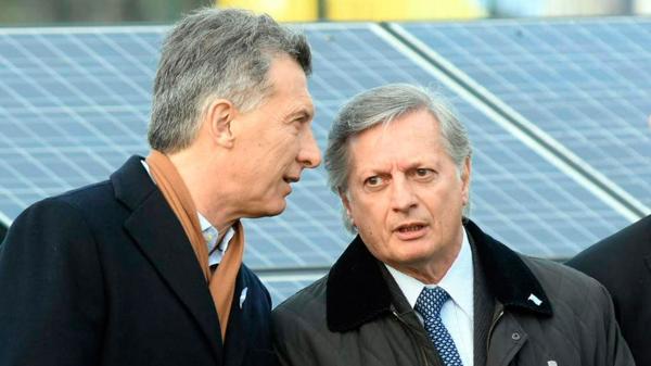 (DyN) Macri y el ministro de Energía, Aranguren