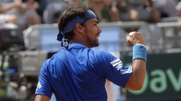 El italiano Bognini logró un triunfo contundente ante el tenista de Tandil (Télam)