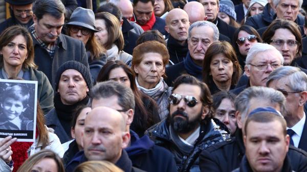 Sara Garfunkel, la madre del fiscal Nisman, en la marcha de homenaje a su hijo (Infobae)