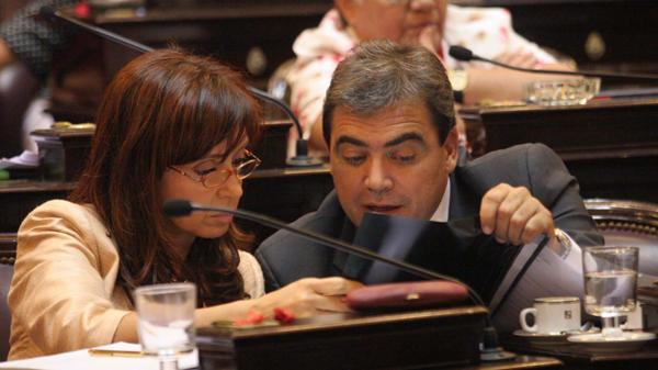 Cristina Elisabet Kirchner y Nicolás Fernández, juntos en el Senado