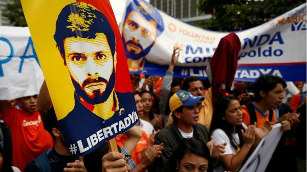 Los venezolanos exigen la liberación de Leopoldo López y todos los presos políticos (Reuters)